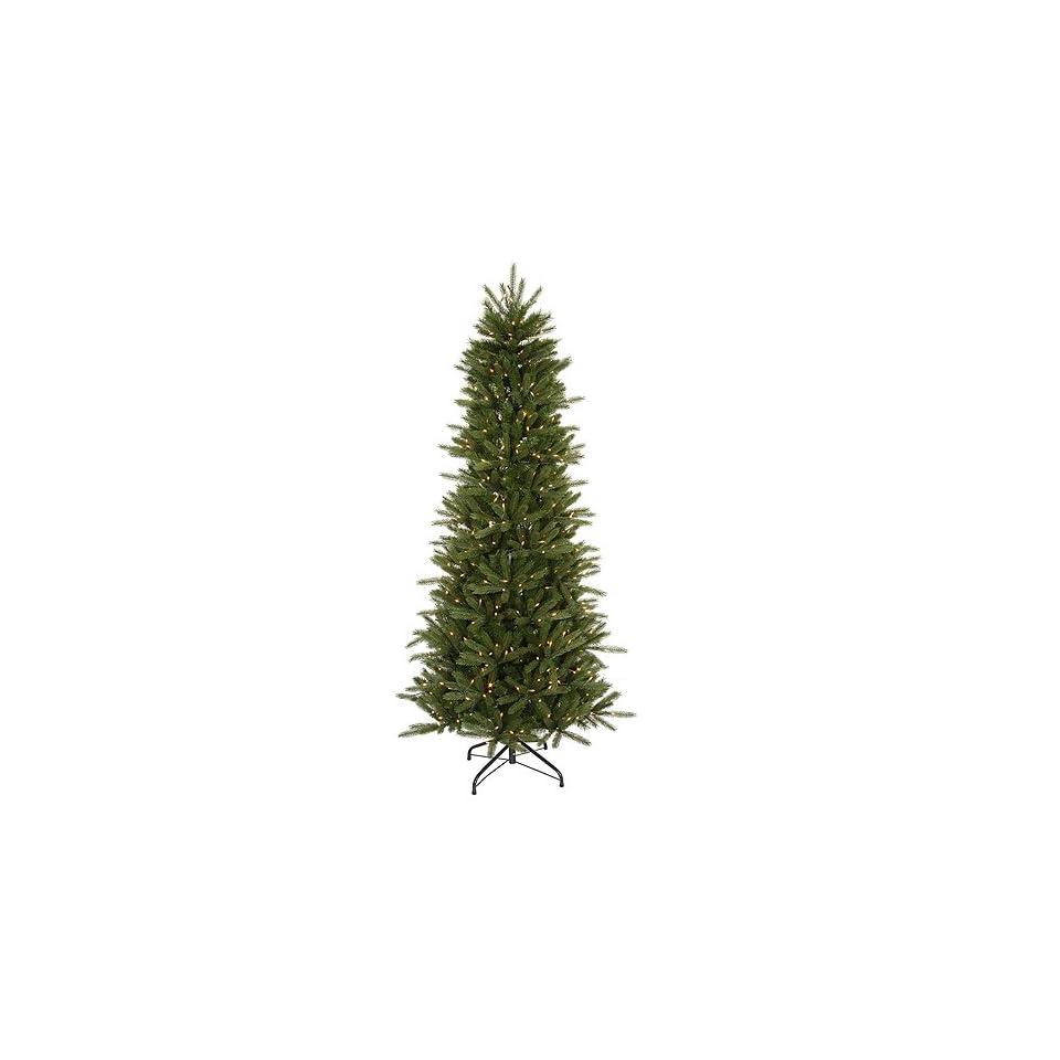 14 Pre Lit Slim Vermont Fir Instant Shape Artificial Christmas Tree   Clear
