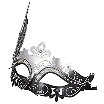 Coxeer Venetian Mask Halloween Mask Party Mask Vintage Masquerade Mask for Prom