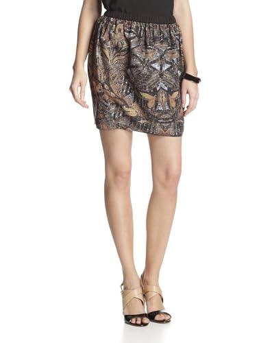 San & Soni Women's Bianca Tapestry Print Skirt  [Multi]