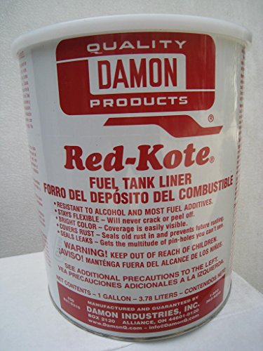 Red Kote Fuel Tank Liner Coat Sealer Gas Alcohol Diesel (1) Gallon Motorcycle Redkote (Gallon Gas Tank compare prices)