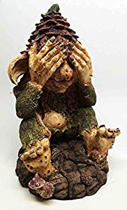 Enchanted forest giant witch troll see no evil figurine 9 h garden decor statue - Enchanted garden collection free download ...