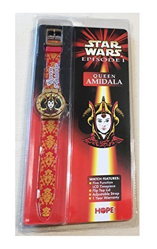 Queen Amidala Star Wars Episode I - 1999 Hope Flip Top Toy Watch by Hope