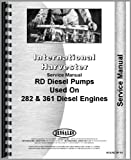 International Harvester RD Injection Pump Service Manual (Industrial)