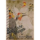 Babylone d'Allemagne par Victor Joze, by Henri de Toulouse-Lautrec (V&A Custom Print)