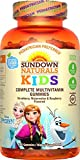 Sundown Naturals Kids Disney Frozen Complete Multivitamin, 180 Count