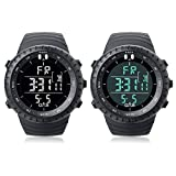 PALADA Mens T7005G Waterproof Quartz Sports LED Light Digital Wrist Watches