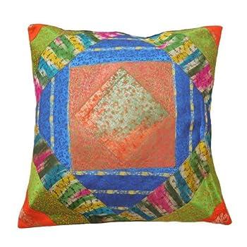 pas cher 1 pi ce patchwork oreiller en satin multicolore cas d cor coussin domicile couvrent. Black Bedroom Furniture Sets. Home Design Ideas