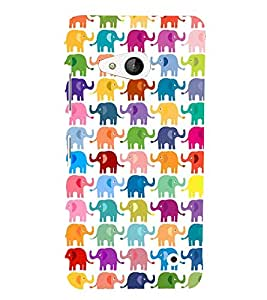 MULTICOLOURED ELEPHANT PATTERNS FOR KIDS IN A WHITE BACKGROUND 3D Hard Polycarbonate Designer Back Case Cover for Nokia Lumia 550 :: Microsoft Lumia 550