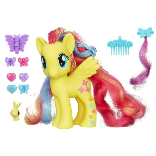 My Little Pony Styling Strands Fashion Pony Fluttershy Figure, 6-Inch - 1