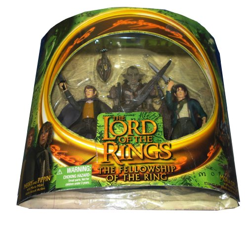 Buy Low Price Toy Biz Fellowship of the Ring MERRY PIPPIN MORIA ORC 6″ Action Figure set (2001 ToyBiz) (B001Q23Z1W)