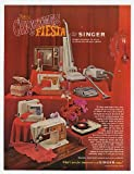 1967 Singer Christmas Fiesta Home Appliances Holiday Print Ad (18461)