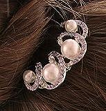 フェイクパールの髪飾り 美しいパープルストーン ヘアーアクセサリー レディース / 冠婚葬祭 結婚式 パーティー ドレス 振袖 留袖 ランキングお取り寄せ
