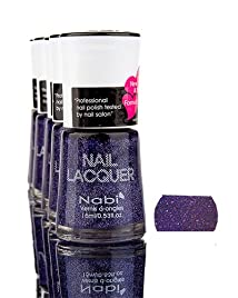 Nabi Nail Polish glitter Collection Set B 15mL 6 colors