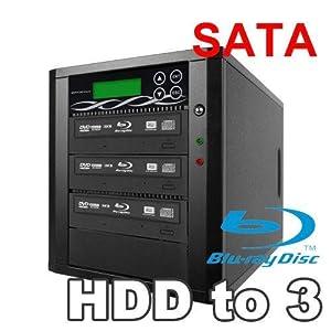 Spartan 12X 3 Targets  SATA Blu Ray Tower Duplicator with Pioneer Drive