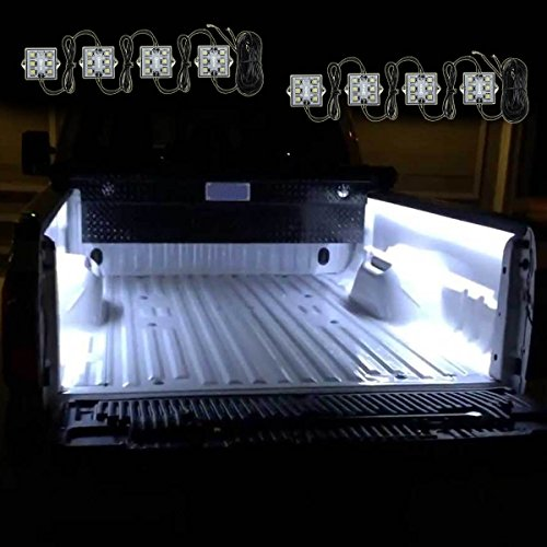 Zento Deals 8 Pcs of Ultra White Bright LED Lighting Bed Truck Universal (Accesory For Pc compare prices)