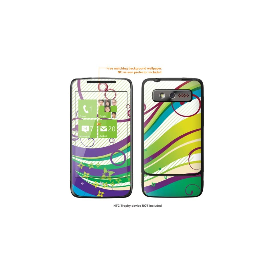Protective Decal Skin STICKER for HTC 7 Trophy T8686 case