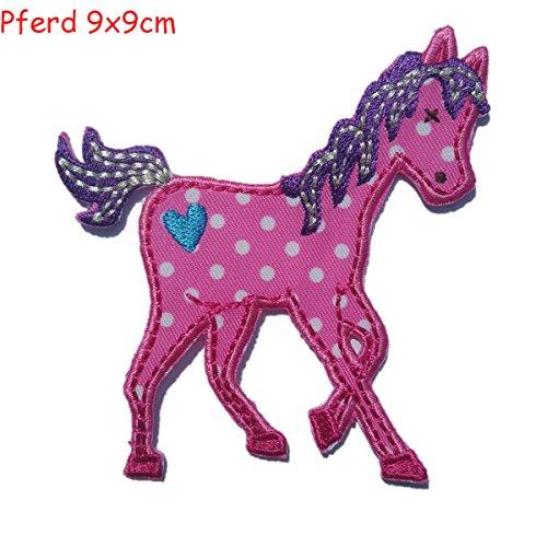 pferd 9x9cm aufb gler kinder bekleidung aufn her b gelbild stern klett patches n hen basteln. Black Bedroom Furniture Sets. Home Design Ideas