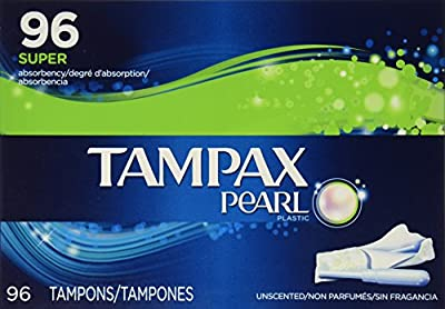 Tampax Pearl Unscented Tampons, Super Absorbency