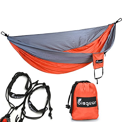 1-Premium-Outdoor-Camping-Hammock-Bisgear-Lightweight-Parachute-Portable-Travel-Bed-Pro-Hammock-for-Hiking-Backpacking-Beach-Yard-with-Electrophoresis-Carabiners-Nylon-Tree-Straps