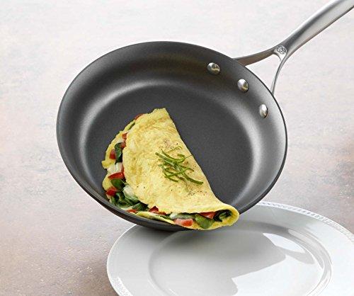 """Calphalon Unison Nonstick Slide Surface Omelette Fry Pan, 10 and 12"""", Black"""