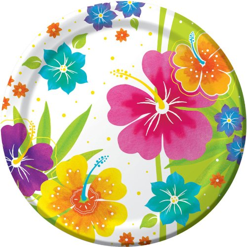 Creative Converting 8 Count Paper Dessert/Lunch Plates, Floral Delight