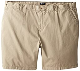 Nautica Men\'s Big-Tall Flat Front Short, True Khaki, 44W