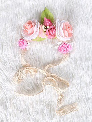 Festival Boho Hippy Hair Head Band/ Rose Crown/Bohemian style (Pink in Bloom) (Wedding Favor Sunflower Seeds compare prices)