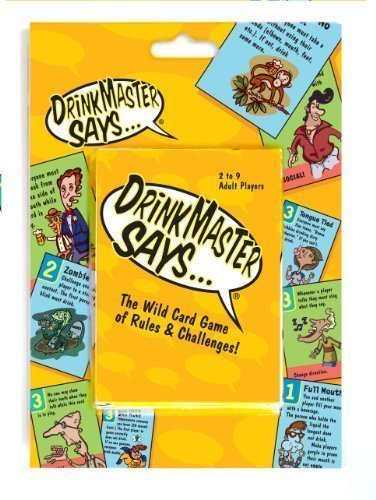 DrinkMaster Says - Drinking Card Game - The Ultimate Drinking Game Designed To Make You Laugh At Yourself And Your Friends