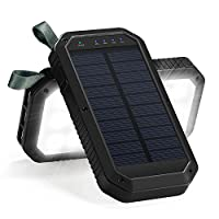 Solar Charger, 8000mAh 3-Port USB and 21...