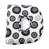 One Grace Place Teyo's Tires Letter Pillow D Black And White
