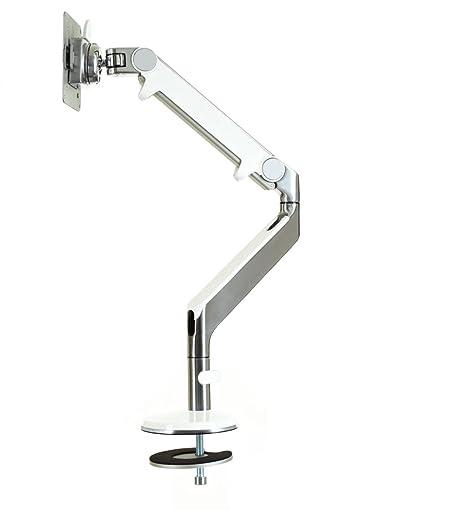 Humanscale M2BW1S M2 Tischbefestigung/Durchschraub mit Schwenkarm (Maximum Tragkraft 9 kg, Höhenverstellbereich: 254 mm, Reichweite des Arm: 508 mm, VESA MIS-D) weiß