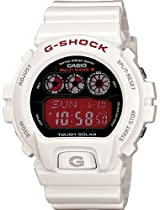Casio GW6900F-7 Mens G-Shock Digital White/Red Resin Strap Watch