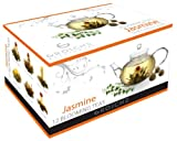 GROSCHE Hand made premium 12 blooming tea variety pack, Green and white Jasmine teas (For Use with any Glass Teapot)