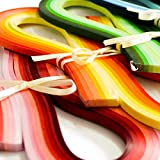 Juya Paper Quilling Set 720 Strips 36 Colors 54cm Length/strips 3/5/7/10mm Width Available (Paper Width 3mm)