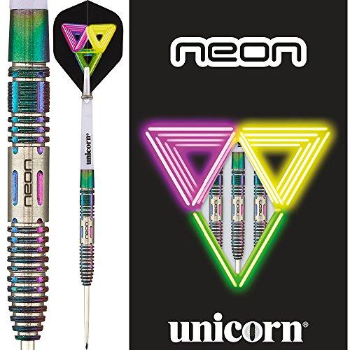 Unicorn-Freccette al Neon, in acciaio con punta in tungsteno, DNA rivestimento, 21 g