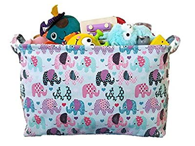 Canvas Toy Organizer Bins and Storage with Elephant Designs for Kids Toy Basket and Toy Organizers, Baby Toys, Books and Clothing for Nursery and Baby Hamper, by Ningbo Mingbomingsheng that we recomend individually.