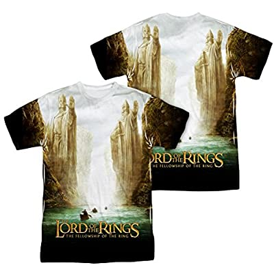 Lord Of The Rings Trilogy Fellowship Poster All Over Print Front / Back T-Shirt