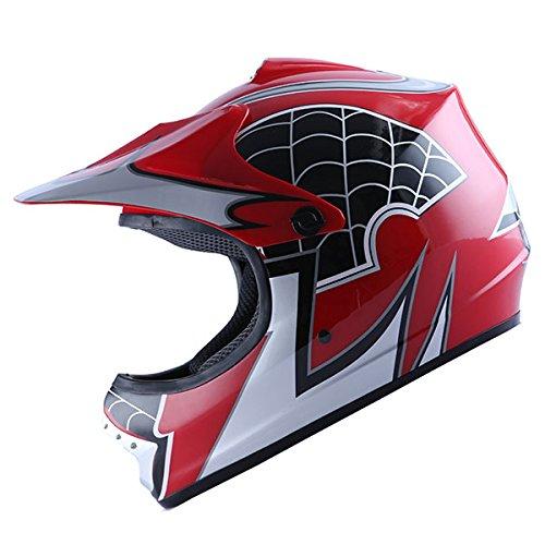 WOW-Motocross-BMX-Youth-ATV-Dirt-Bike-Red-Spider-MX-Helmet