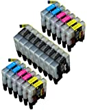 20 Pack Compatible LC-71 , LC-75 8 Black, 4 Cyan, 4 Magenta, 4 Yellow for use with MFC-J280W, MFC-J425W, MFC-J430W, MFC-J435W, MFC-J5910DW, MFC-J625DW, MFC-J6510DW, MFC-J6710DW, MFC-J6910DW, MFC-J825DW, MFC-J835DW. Ink Cartridges for inkjet printers. LC-71BK , LC-71C , LC-71M , LC-71Y , LC-75BK , LC-75C , LC-75M , LC-75Y © Blake Printing Supply