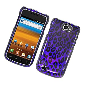 Eagle Cell PISAMT679G2D171 Stylish Hard Snap-On Protective Case for Samsung Exhibit 2 4G/Galaxy Exhibit 4G T679 - Retail Packaging - Purple Leopard