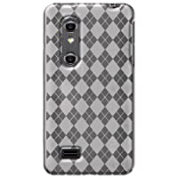 Amzer AMZ91213 Luxe Argyle High Gloss TPU Soft Gel Skin Case For LG Optimus 3D P920 (Clear)