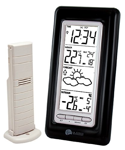 La crosse technology ws9132it b sil station m t o avec for Station meteo temperature interieure et exterieure