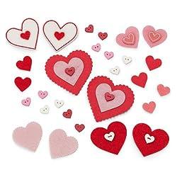 Martha Stewart Crafts Felt Button and Heart Die-Cuts