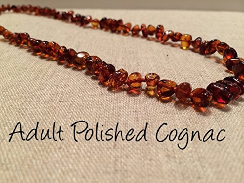 Baltic Amber Necklace For Adults Polished Cognac Certified Authentic. Anti-Inflammatory, Reduction In Inflamation Symptoms Such As Carpal Tunnel, Back Aches, Head Aches, Tooth Aches, General Aches And Pains. Highest Quality front-330613
