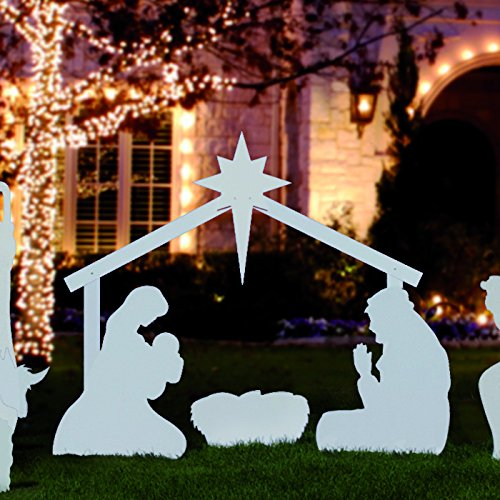Nativity Scene Outdoor Christmas Decoration: Outdoor Nativity Store Silhouette Outdoor Nativity Set