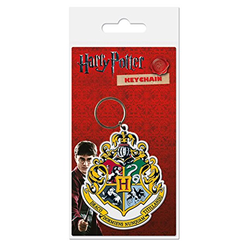 Pyramid International - Harry Potter Portachiavi Di GOmma Hogwart'S Crest 6 Cm