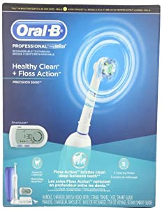 Oral-B Professional Healthy Clean Floss Action Precision 5000 Rechargeable Electric Toothbrush(packaging may vary)
