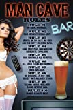 Poster Service 89150 Man Cave Rules Decorative Poster