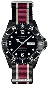 OXYGEN Moby Dick Black 40 unisex quartz Watch with black Dial analogue Display and multicolour nylon Strap EX-D-MBB-40-NN-BLIVPL