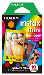 Fujifilm Instax Mini Rainbow Instant Film, 10 Photos/Pack (Rainbow)